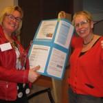 Trijntje Drenth en ik tijdens zorgbeurs Borger Odoorn  21-03-2015